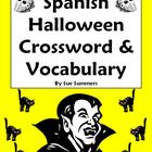 Spanish Halloween Crossword, Image IDs and Vocabulary Refe