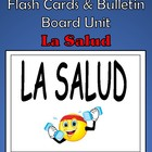Spanish Health (La Salud) Flash Cards &amp; Bulletin Board Unit