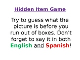 Spanish Hidden Classroom Items Vocabulary Game