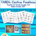 Spanish Homework:  007:  TAREA Tarjetas de Sonidos Iniciales A-Z