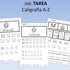 Spanish Homework:  008: TAREA Caligrafa A-Z  Penmanship SHIPPED
