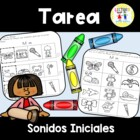 Spanish Homework:  009:  TAREA Sonidos iniciales - Initial Sounds