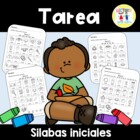 Spanish Homework: 011: TAREA Slabas Iniciales  Beginning