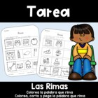 Spanish Homework:  015:  TAREA Las Rimas     Rhyming