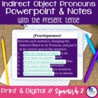 Spanish Indirect Object Pronouns with present tense verbs