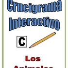 Spanish Interactive Crossword Puzzle: Animal Vocabulary