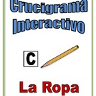 Spanish Interactive Crossword Puzzle: Clothing Vocabulary