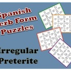 Spanish Irregular Preterite Puzzle Activity