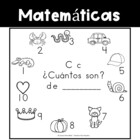 Spanish:  Letter C Counting Book 1-10 / Cuenta con la letra C