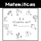Spanish:  Letter D Counting Book 1-10 / Cuenta con la letra D