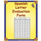 Spanish Letter Evaluation Form