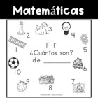 Spanish:  Letter F Counting Book 1-10 / Cuenta con la letra F