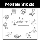 Spanish:  Letter P Counting Book 1-10 / Cuenta con la letra P