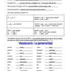 Spanish Level 1 Guided Notes Adjectives Nouns Pronouns