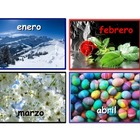 Spanish Months of the Year Flash Cards .4 cards for each