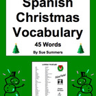 Spanish Navidad / Christmas / Holiday Vocabulary List