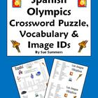 Spanish Olympics Crossword Puzzle Worksheet and Vocabulary