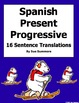 Spanish Present Progressive Verbs All Types 16 Translations