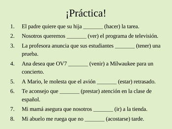 Spanish Present Subjunctive PPT