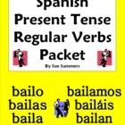 Spanish Present Tense Regular Verbs Bundle