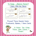 Spanish Present Tense Verbs:  Flash Cards, Quizzes, and I