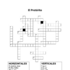Spanish Preterit Cross-Word Puzzle