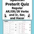 Spanish Preterit Verb Conjugation Quiz or Worksheet