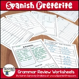 Spanish Preterite Packet with Answer Key