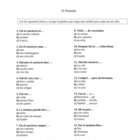 Spanish Preterite Worksheet