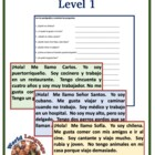 Spanish Reading Activity-Stations (Level 1)