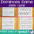 Spanish Reflexive and Stem-Changing Verbs Dominoes Games