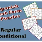 Spanish Regular Conditional Verb Form Puzzle Activity