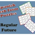 Spanish Regular Future Verb Form Puzzle Activity