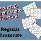 Spanish Regular Preterite Verb Form Puzzle Activity