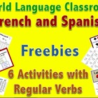 Spanish Regular Verb Practice Activity (Shipwreck-Naufragio)