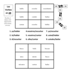 "Spanish Regular ""ar, ir, er"" Verb Activities - Magic Squares"