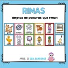 Spanish Rhyming Words. Tarjetas de palabras que riman.