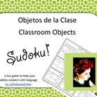 Spanish SUDOKU of classroom objects!