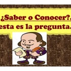 Spanish Saber y Conocer Presentation and Activities