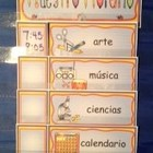 Spanish Schedule Cards