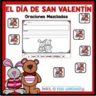 Spanish Scrambled Sentences for Valentine's Day