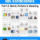 Spanish & English Season and Weather Picture Flashcards