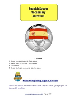 Spanish Soccer Picture Flashcards & Games