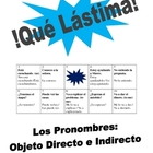 Spanish  Speaking Activity: Dir. and Indir. Obj. Pronouns