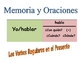 Spanish Speaking Activity with Reg Verbs (Memory with Sentences)