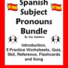 Spanish Subject Pronouns Bundle - Practice, Quiz, Skit, In