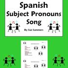 Spanish Subject Pronouns Song