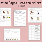 Spanish Syllables - ra re ri ro ru Practice Pages