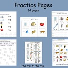 Spanish Syllables - ta te ti to tu practice pages
