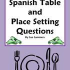 Spanish Table & Place Setting Sentences